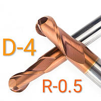 Фреза радиусная R0.5/D-4/L-50 концевая твердосплавная