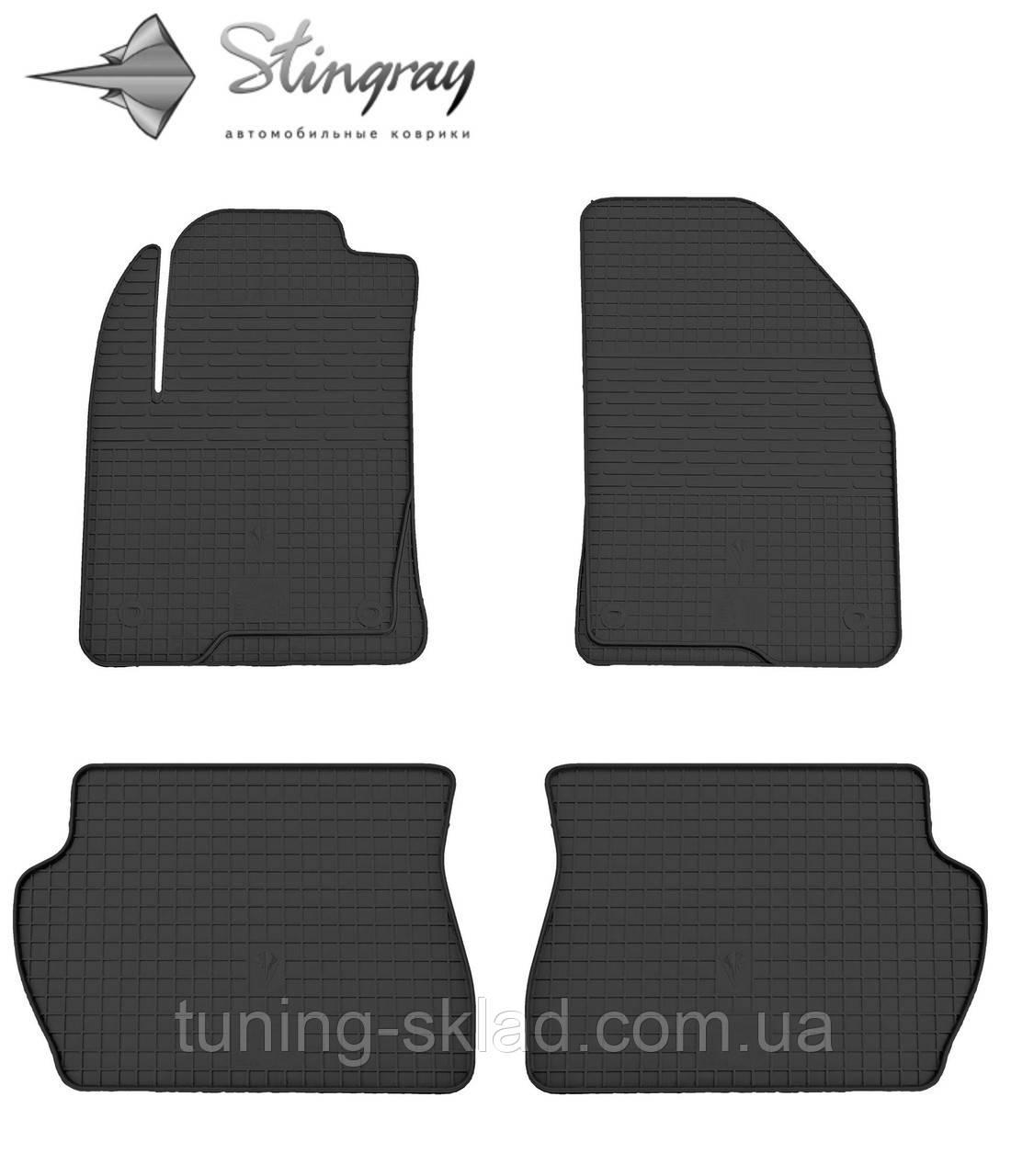 Резиновые коврики  Mazda 2 2002- (Мазда 2) количество 4 штуки