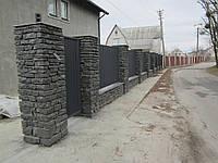 Забор из обрезков бута габбро, Киев (Гуровщина), фото 1