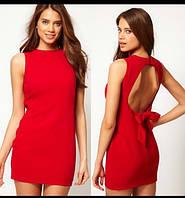 Платье с открытой спиной  АА-20 красное