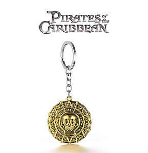 Брелок монета Пираты Карибского моря Pirates of the Caribbean античное золото