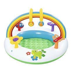 Детский надувной центр Bestway 52239 «Радуга», с игрушками
