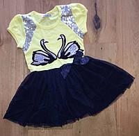 Летнее платье для девочек от 98 до 128 см рост, фото 1