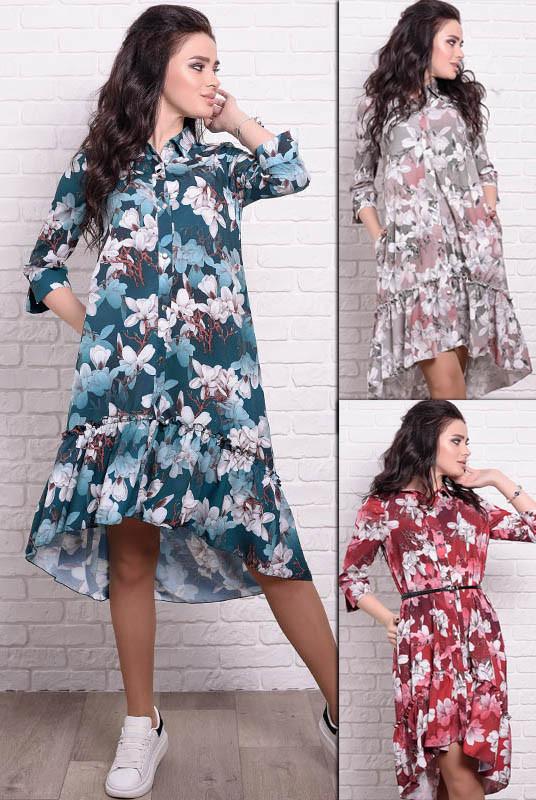 Платье с цветочным принтом в Флора Лилии