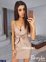Короткое платье из искусственной кожи, фото 1