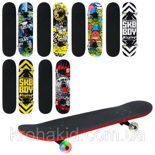 Скейт (скейтборд) детский деревянный MS 0355 (6 разных дизайнов)