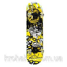 Скейт (скейтборд) детский деревянный MS 0355 (6 разных дизайнов), фото 3