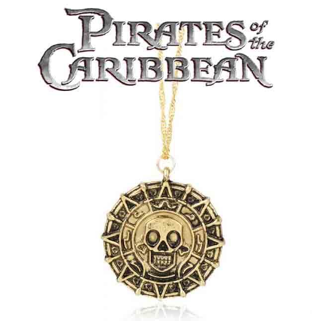Кулон монета Пираты Карибского моря Pirates of the Caribbean античное золото