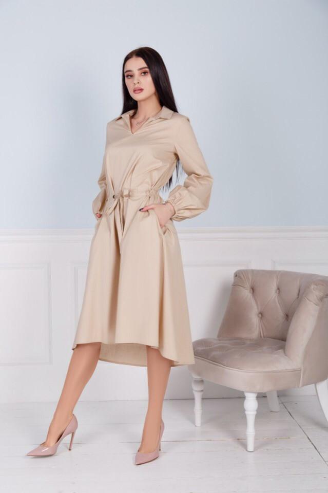Стильне плаття з коміром асиметрія