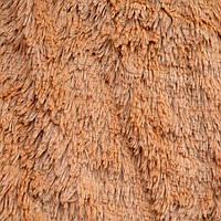 Покрывало ворсистое бамбуковое на кровать евро размера (бежевое)
