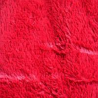 Плед на кровать бамбуковый мех красный - евро размер