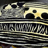 Махровое покрывало двуспального размера (черно-белое)