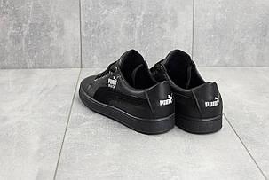 Подростковые кожаные кеды Twics Puma черные топ-реплика, фото 2