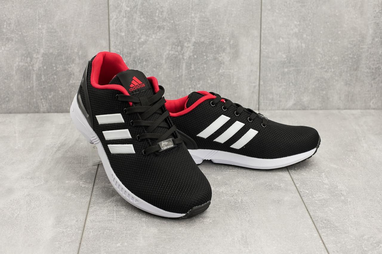 Кроссовки мужские текстильные Adidas Torsion черные с белым топ-реплика