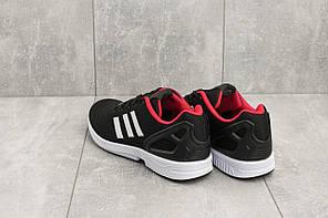 Кроссовки мужские текстильные Adidas Torsion черные с белым топ-реплика, фото 2