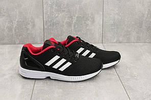 Кроссовки мужские текстильные Adidas Torsion черные с белым топ-реплика, фото 3