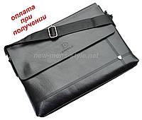 Мужская чоловіча деловая кожаная сумка портфель формат А4 A4, фото 1