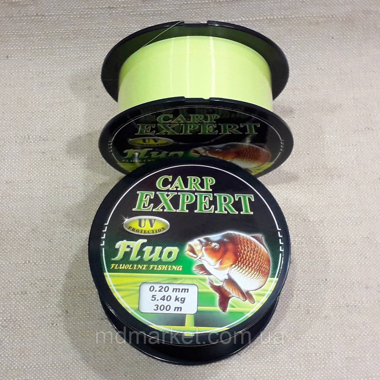 Леска Сarp Expert UV FLUO YELLOW 0,25мм 300m