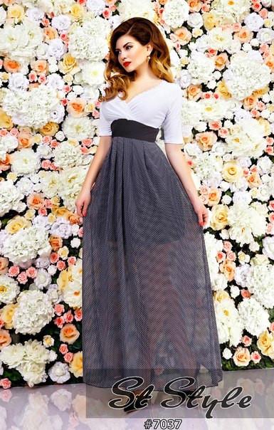 Платье в горошек 03005
