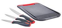 Набор кухонный ножей с досточкой Rondell Urban RD-1010 (3 ножа + разделочная доска)