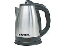 Электрочайник стальной корпус ASTOR HHB 1804 кухонный чайник электронный 1.8 л 2000 вт
