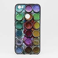 Чехол Print для Xiaomi Redmi Note 5A / Note 5а Pro / 5A Prime 3/32 силиконовый бампер черный Paints, фото 1
