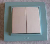 Выключатель одно-двух-трехклавишный белый, крем, вишня, сосна, ольха, серебро, золото Еl-Bi