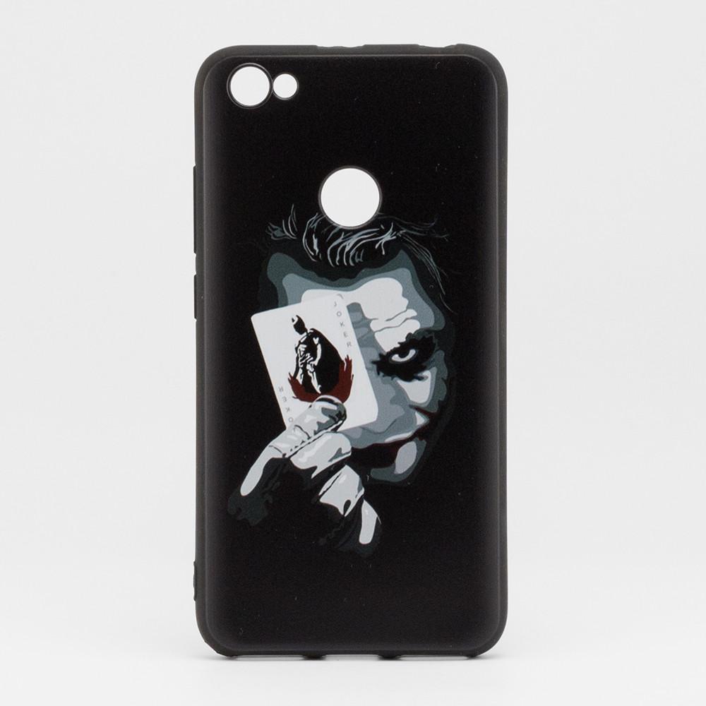 Чехол Print для Xiaomi Redmi Note 5A / Note 5а Pro / 5A Prime 3/32 силиконовый бампер черный с рисунком Joker