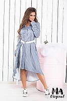 Платье - рубашка с поясом / лен / Украина 7-2-693, фото 1