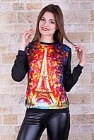 Свитшот Париж трехнитка, фото 1