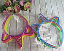 Детские обручи для волос Единороги цветные 12 шт/уп, фото 5