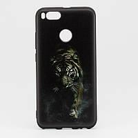 Чехол Print  для Xiaomi Mi A1 / Mi5X силиконовый бампер черный Tiger