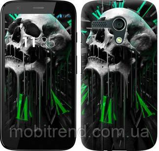 Чехол на Motorola Moto G Череп-часы