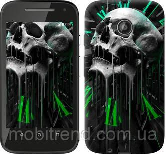 Чехол на Motorola Moto E2 Череп-часы