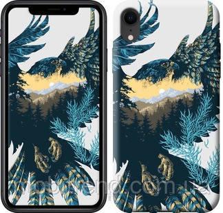 Чехол на iPhone XR Арт-орел на фоне природы