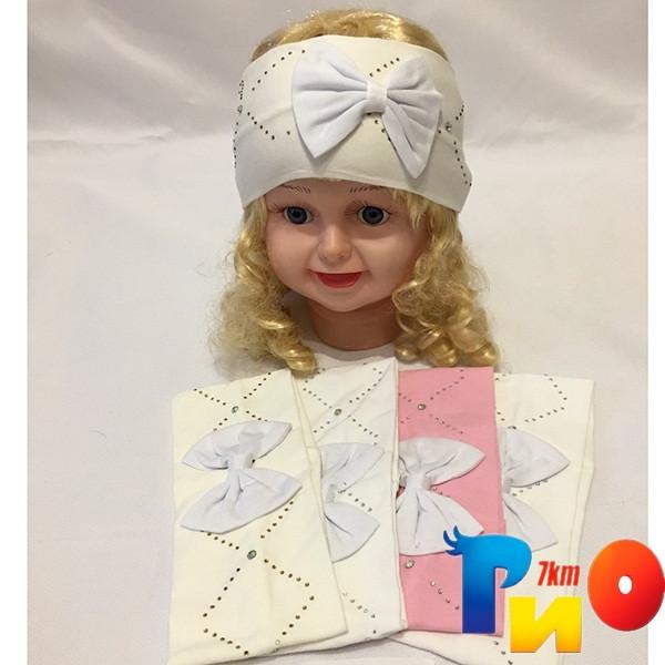 Детская повязка из двойного трикотажа для девочек (5 ед в уп) NA_2435
