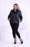 Черная короткая демисезонная куртка (р. 42-74 ) под заказ