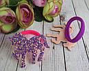 """Детские резиночки для волос Единороги в блестках """"битое стекло"""" 12 шт/уп, фото 5"""