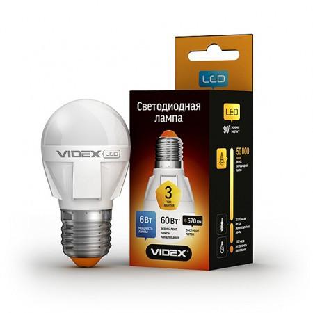 LED лампа VIDEX G45 6W E27 4100K 220V