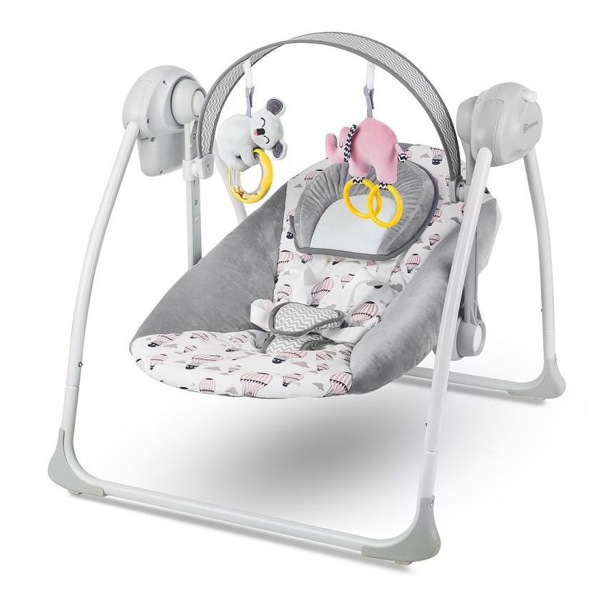 Кресло-качалка Kinderkraft Flo 2в1 (розовое)