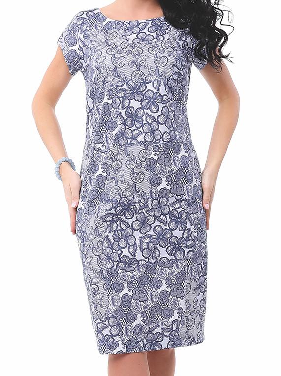 Женское летнее платье-футляр голубого цвета. Модель Irma Top-Bis, коллекция весна-лето