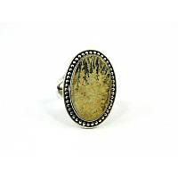 Кольцо Яшма Дедридна серебро, Изысканная кольцо из натурального камня, Украшения из натурального камня