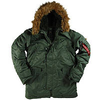 Куртка аляска ALPHA INDUSTRIES N-3B PARKA SAGE GREEN Мужская