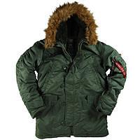 Куртка аляска ALPHA INDUSTRIES N-3B PARKA SAGE GREEN Мужская