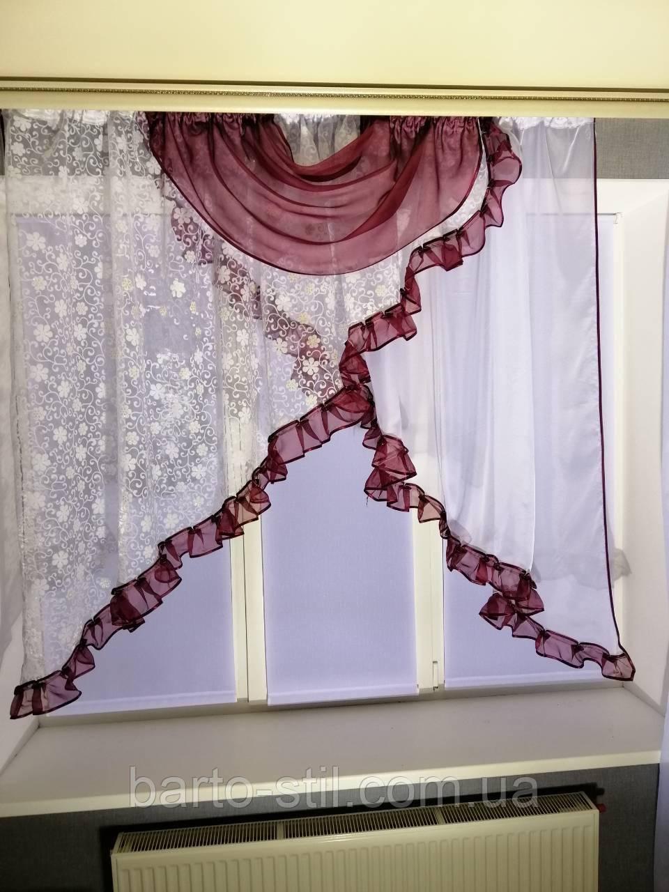 """Кухонная занавеска на небольшое окно """"Емилия"""""""