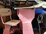 Парта со стульчиком HB-2075-02 (РОЗОВАЯ) КИЕВ, фото 2