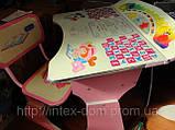 Парта со стульчиком HB-2075-02 (РОЗОВАЯ) КИЕВ, фото 3