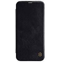 Кожаный чехол-книжка Nillkin Qin Series для Samsung Galaxy J4 Plus (2018) SM-J415F Black