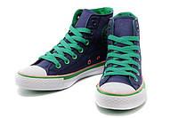 Кеды Converse Blue-Green высокие