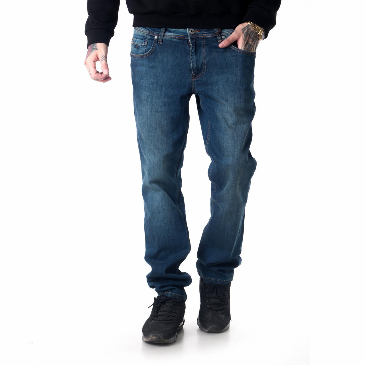 """Мужские джинсы для высоких мужчин 18-742 L: 36"""" темно-синие"""
